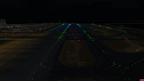 what color are taxiway lights airdailyx aerosim review series 1