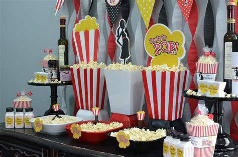 ready to pop baby shower theme decorations ready to pop popcorn bar baby shower ideas photo 6