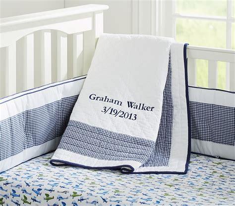 Gingham Crib Bedding by Gingham Nursery Bedding Pottery Barn