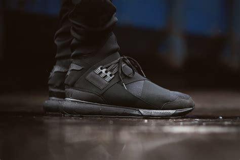 Adidas Y 3 Qasa High Blackwhite Premium High Quality 1 y 3 qasa high top sneaker all black hypebeast