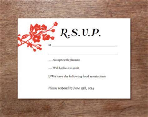 free printable wedding rsvp card templates rsvp card etsy