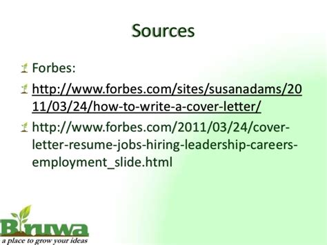 forbes how to write a cover letter cover letter presentation
