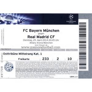 Vs real madrid 2013 14 champions league ticket memora football