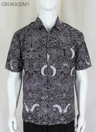 Muslim By Pandawa Bermotif Batik Satu Set Kemeja Plus Longdress kemeja batik motif klasik kemeja lengan pendek murah batikunik