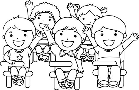 at the school children coloring page wecoloringpage