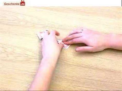 Geldscheine Falten Auto Flach by Origami Geldschein Zum Schmetterling Falten Youtube