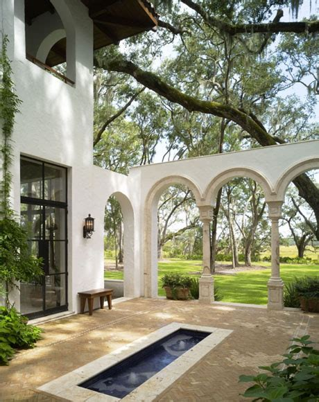 style house plans with interior courtyard courtyard design