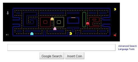 doodle jeux pacman pacman c 233 l 233 br 233 par sur un doodle jouable