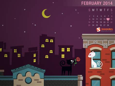 de febrero de 2014 fondos de escritorio con calendario del mes de febrero del