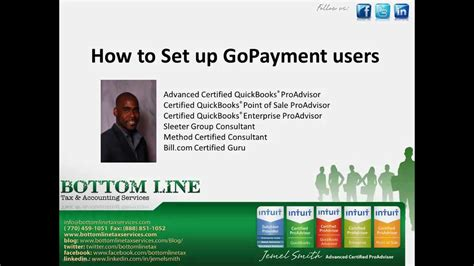 quickbooks gopayment tutorial quickbooks tutorial setting gopayment users youtube