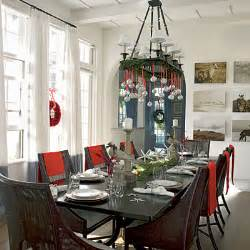 christmas dining room decor red and white christmas