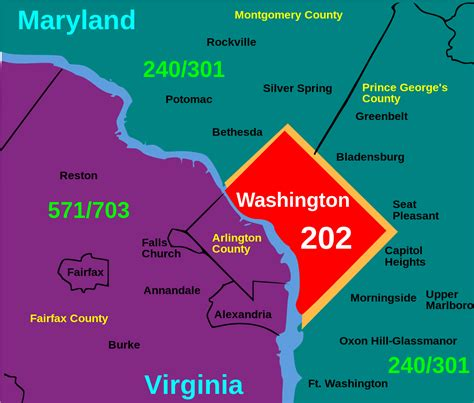 us area code 240 area code 202