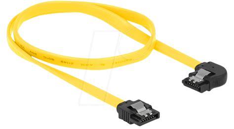 metall le delock 82825 cable sata 6 gb s str le 50 cm yellow