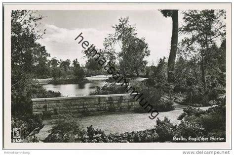 garten 50er jahre berlin tiergarten englischer garten foto ak 50er jahre