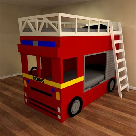 fire truck bed with slide fireman bunk bed best home design 2018