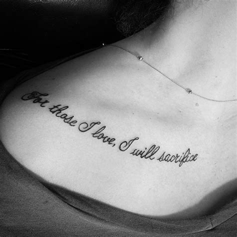 tattoo designs love quotes 30 collarbone quote tattoos that are as meaningful as they