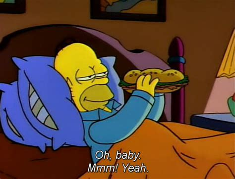 homer in bed food bed the simpsons homer simpson season 2 bart simpson the war of the simpsons