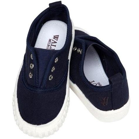 walnut melbourne navy canvas shoes for toddler