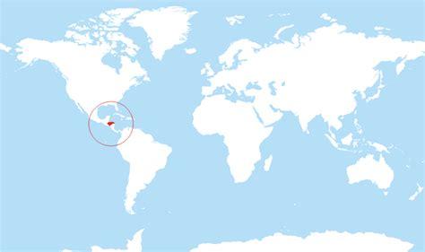 honduras located   world map