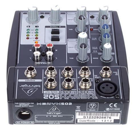 Mixer Xenyx 502 behringer xenyx 502 djmania