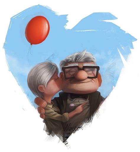 up film love story charming pixar up inspired fan art my modern met