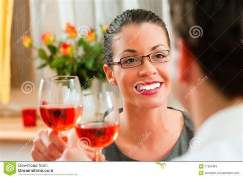 romantic couple drinking wine couple drinking rose wine stock photos image 17254483