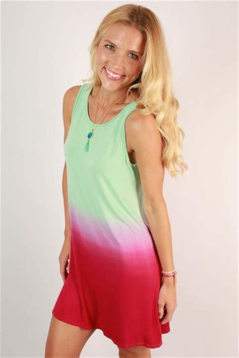 Pink Flow Dress Qif go with the flow ombre tank dress in pink impressions s clothing boutique