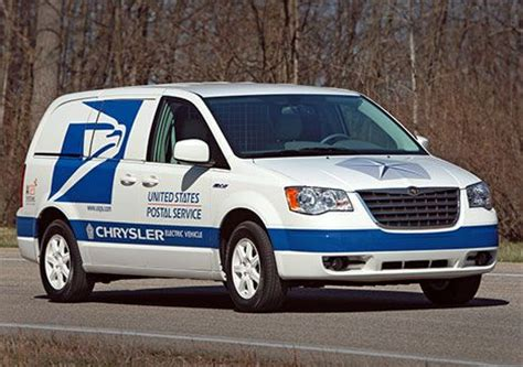 chrysler electric chrysler unveils electric minivan for us postal service