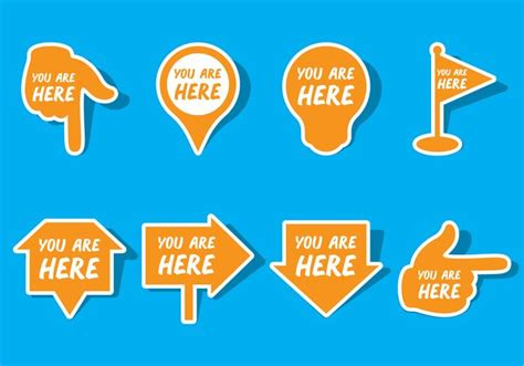 You Are Here you are here sign free vector stock