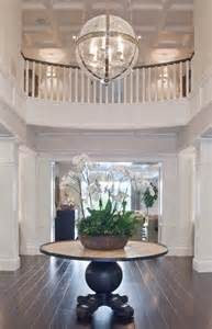 Foyer Round Table Round Foyer Table Transitional Entrance Foyer Brooke