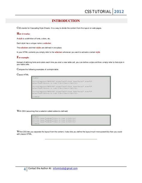 css tutorial expert css tutorial 2012