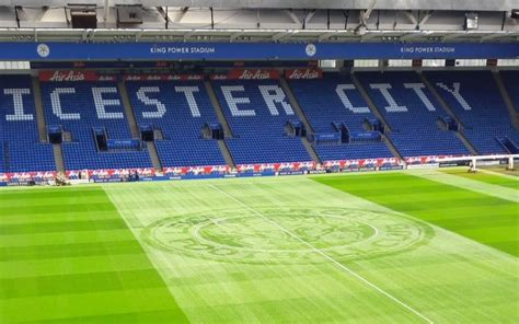 pattern cutter jobs leicester leicester city groundsmen cut spectacular club badge into