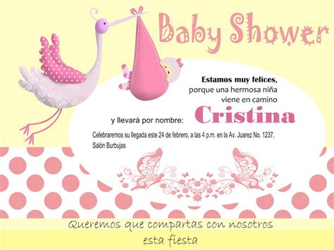 Baby Shower For invitaci 243 n imprimible personalizada para baby shower ni 241 a