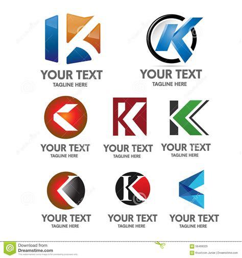 k r design letter k logo concept stock vector illustration of change