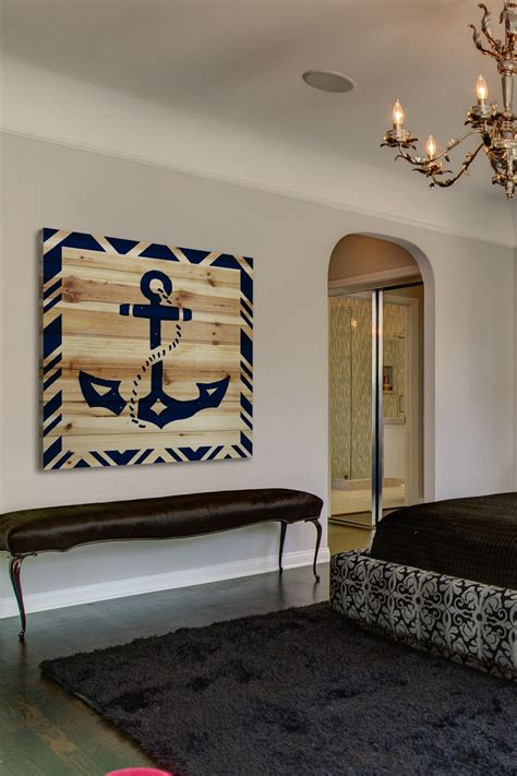 diy nautical home decor diy idea for a large nautical wall decor piece anchor