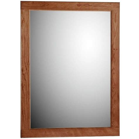 deco mirror 31 in l x 25 in w tea glass rectangle wall