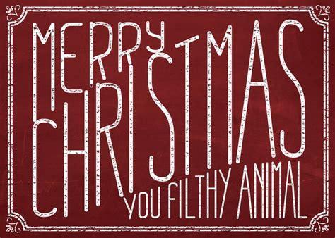 merry christmas  filthy animal card merry christmas animals  christmas