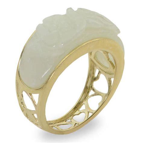 jade ring in 10k gold size 7 gemstone rings rings