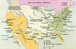map of america in 1800 the expanding republic and the war of 1812 ushistory org