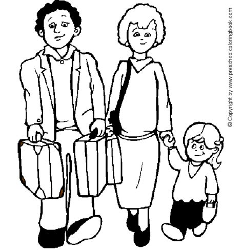 preschool coloring pages about families www preschoolcoloringbook com family coloring page