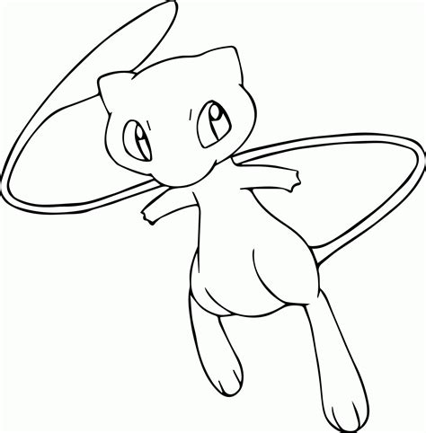 pokemon coloring pages legendary mew pokemon mew coloring page az coloring pages