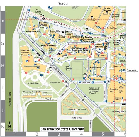sfsu map san francisco state map