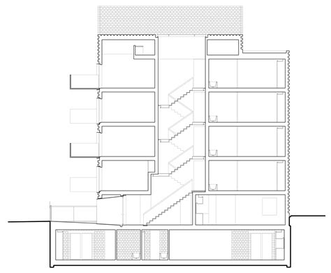 slender section 3novices slender apartment block by amin taha architects