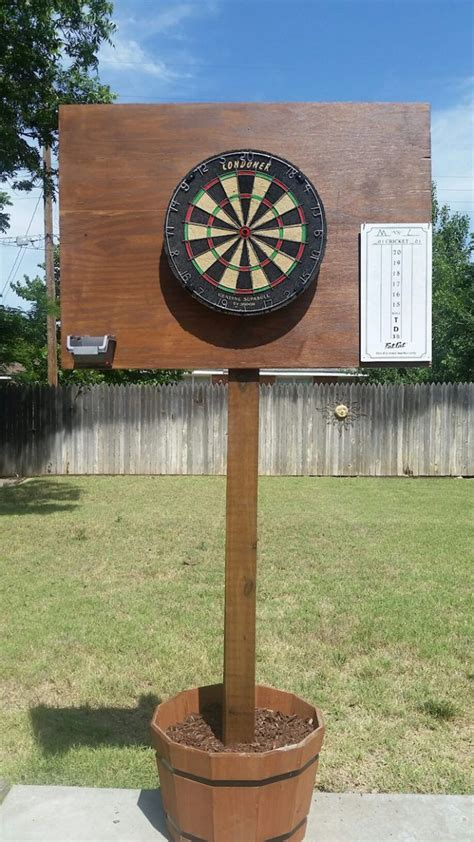 diy outdoor dart board backyard fun backyard games