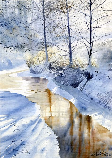 watercolor tutorial winter grzegorz wr 243 bel s fascinating watercolors pencil jammers
