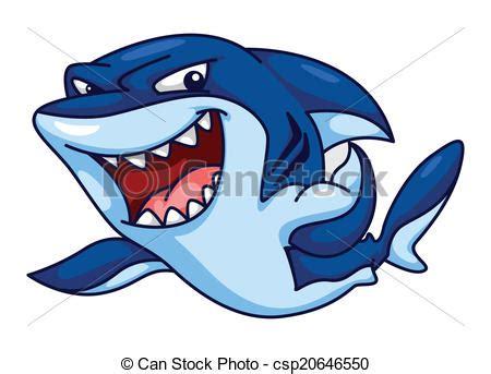clipart divertenti clipart vettoriali di divertente squalo cartone animato