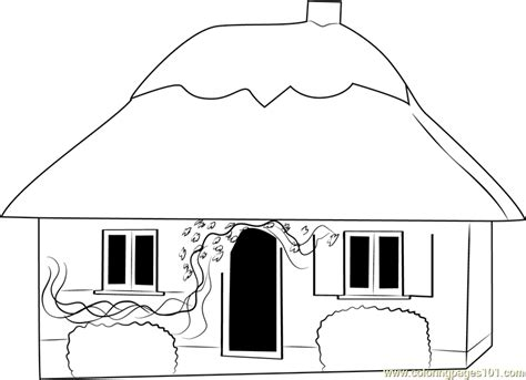 cottage house coloring pages small cottage house coloring page free cottage coloring