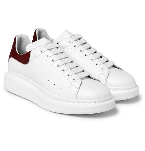 mcqueen sneakers mcqueen larry exaggerated sole calf hair trimmed
