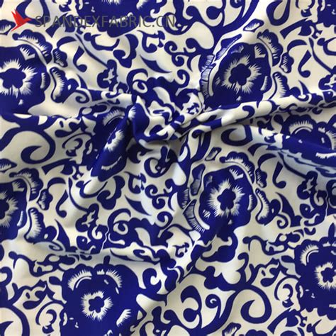 patterned nylon fabric chinese pattern nylon lycra fabric stretchy material