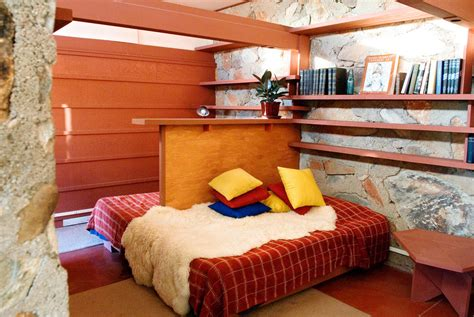 frank lloyd wright bedroom gallery of ad classics taliesin west frank lloyd wright 5